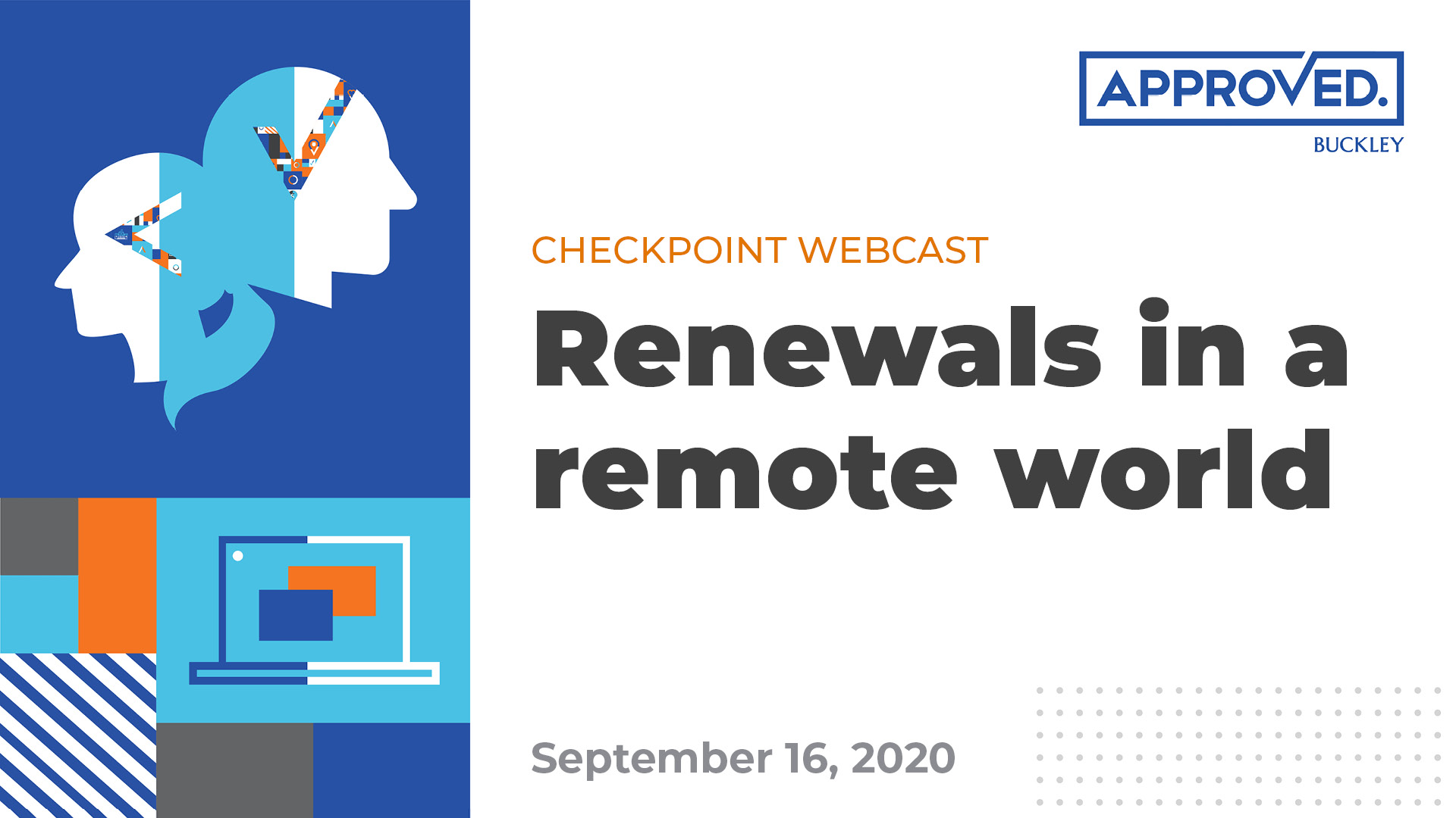 Checkpoint Webcast | Renewals in a remote world