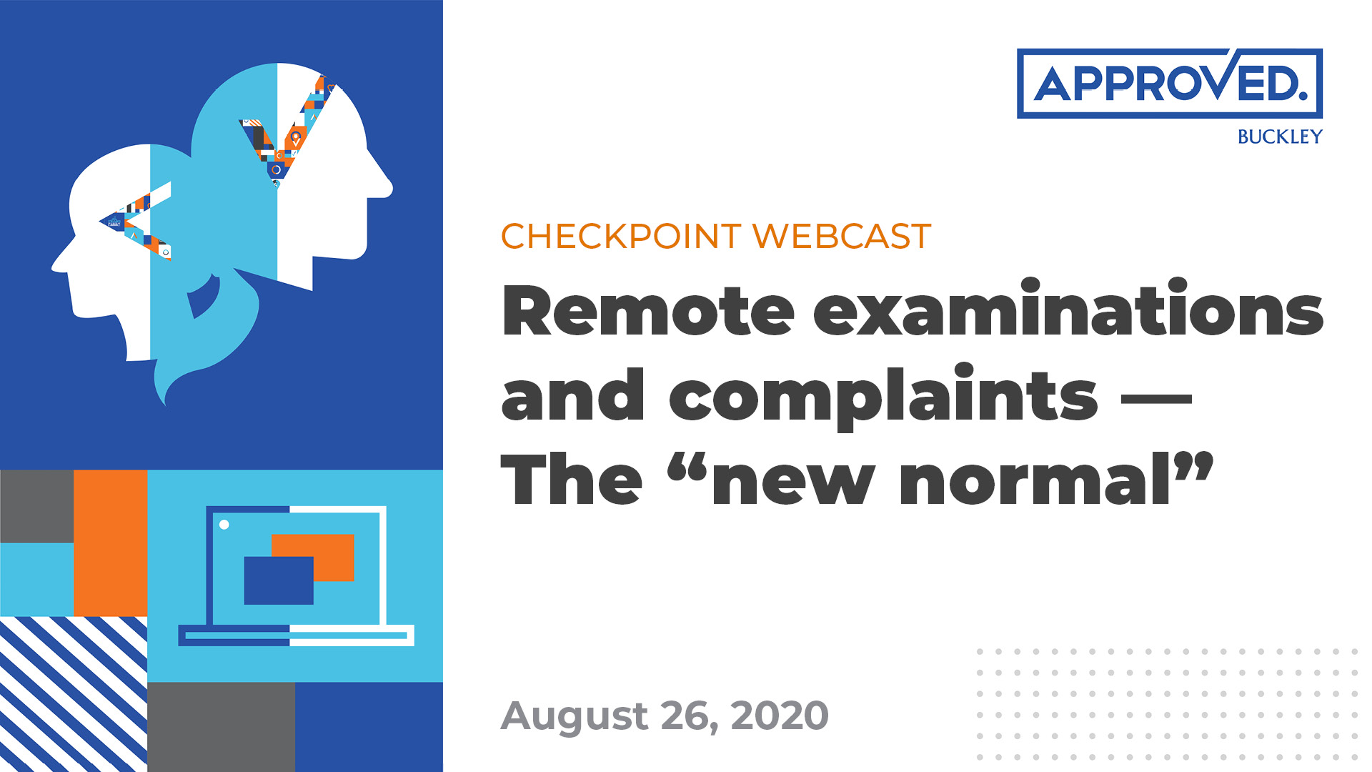 Checkpoint Webcast | Remote examinations and complaints
